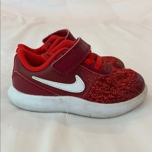 Nike Flex Contact toddler boys red shoes